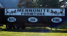 Mennonite Furniture, Trailer sign
